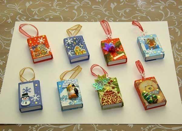 Новогодние игрушки из спичечных коробков своими руками