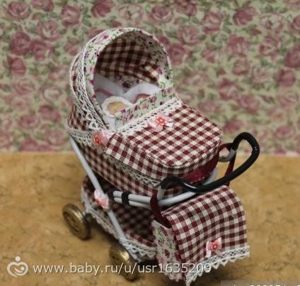 Как сделать коляску для маленьких кукол своими руками