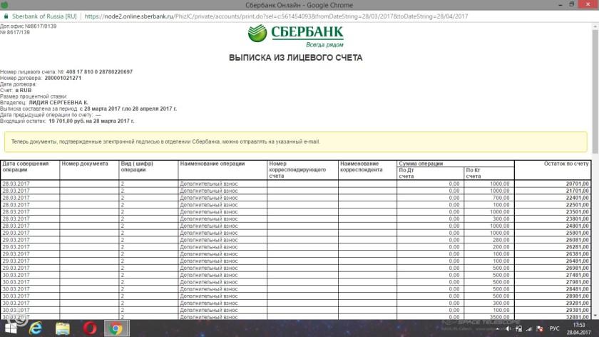 Как сделать выписку по счету в сбербанке онлайн