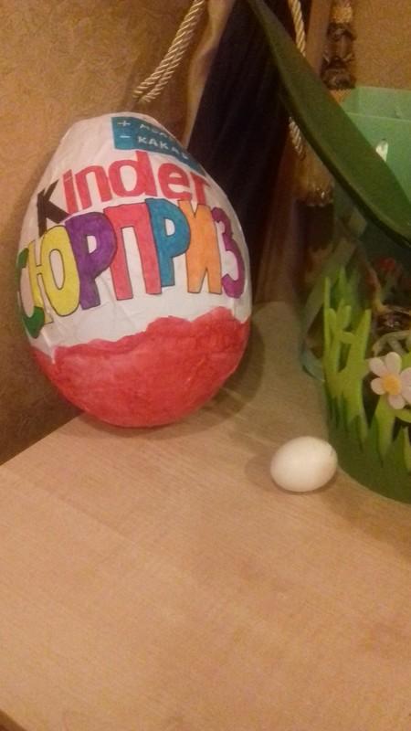 Киндер яйцо из папье-маше своими руками 19