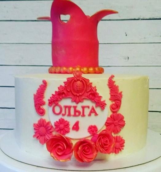 Тортик с короной для Маленькой Принцессы