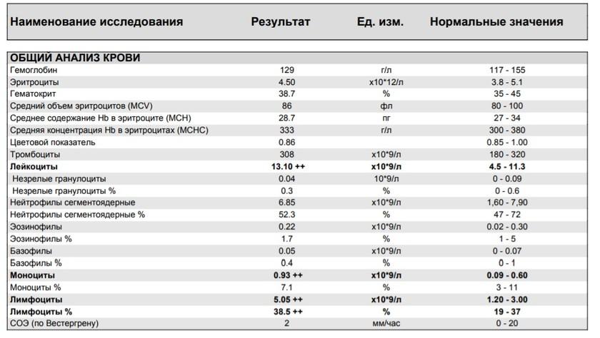 Уровень лейкоцитов при алкоголизме