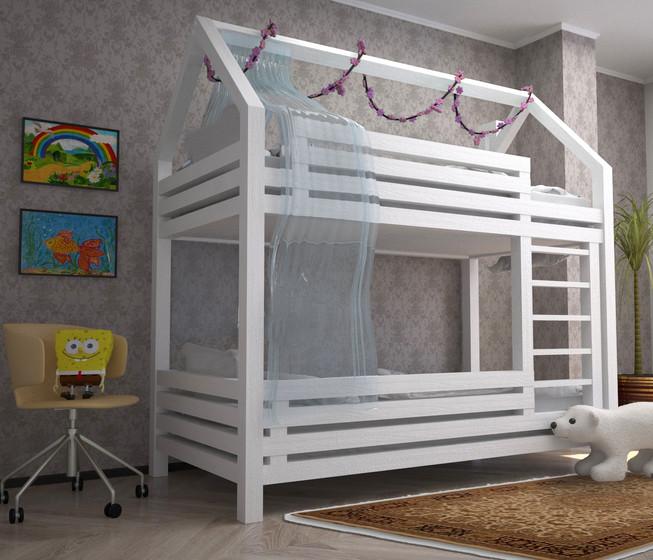 Кровать домик из массива дерева