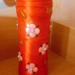 Заколочки из фома, ваза и оформление коробочки цветами