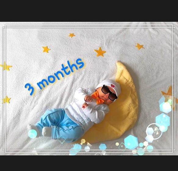 Сыну 3 месяца открытка