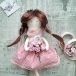 Мое хобби - текстильные куклы! Рада представить одну из последних работ!