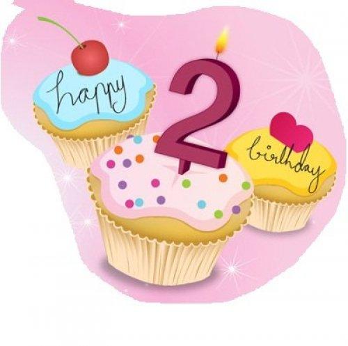 Вам отличных, поздравления с днем рождения девочке 2 года на открытке